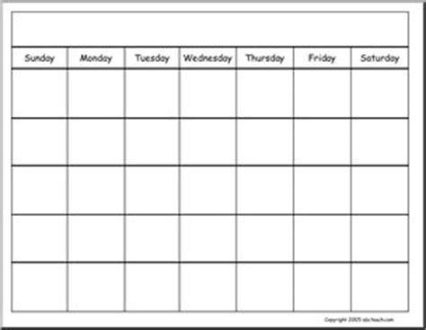 generic monthly calendar template calendars blank generic calendar abcteach