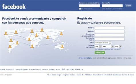 fasebook iniciar secion o regstrate facebook en espa 241 ol entrar en mi cuenta imagui