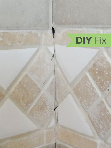 houzz fix repair cracked bathroom grout rev