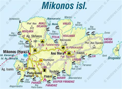 mykonos map greekcams