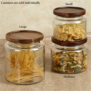 Glass Canisters For Kitchen by Calvina Stackable Glass Kitchen Canisters