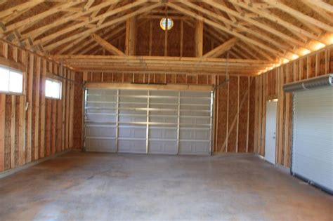 2 Car Garage With Loft by Garage Truss