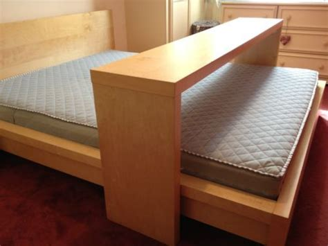ikea over the bed table details about ikea malm kingsize bed with mattress and
