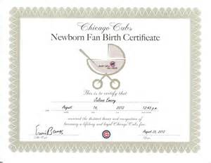 How Can I See My Birth Certificate Online by Baby Juliana 7 Cubs Birth Certificate By Shinjiasuka4ever