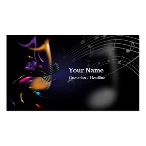 business card template musician business card templates bizcardstudio