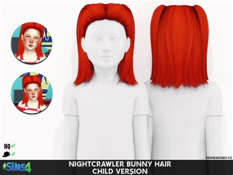 St Bunny Kid Cc nightcrawler bunny hair child version the sims 4 simsdom