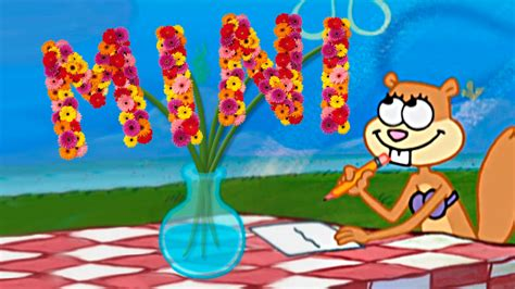 flowers  sandy transcript encyclopedia spongebobia