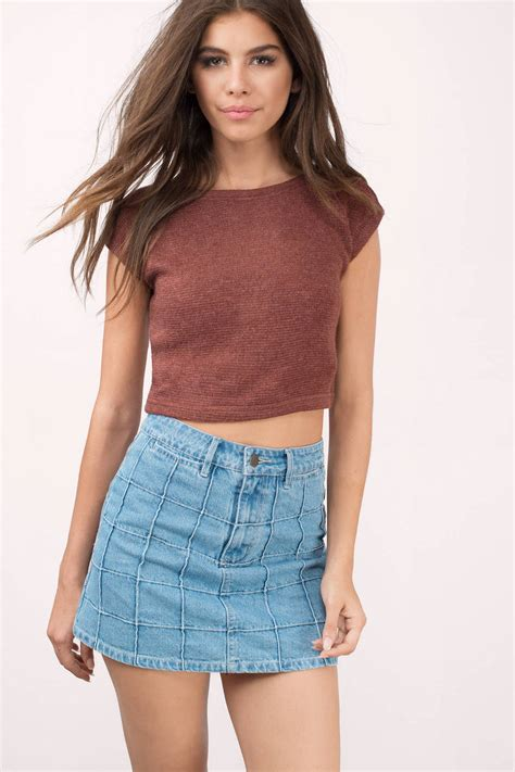Crop Top i m yours wine crop top knitted 11 tobi us