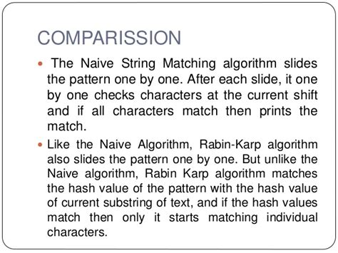 naive pattern matching algorithm ppt string matching algorithms