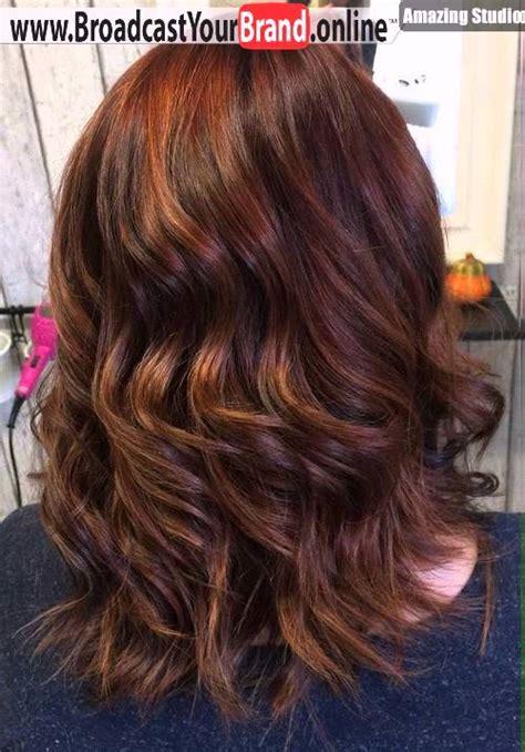 meduim auburn brown hair with highlights medium length wavy auburn balayage hair youtube