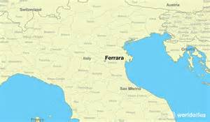 where is ferrara italy where is ferrara italy located