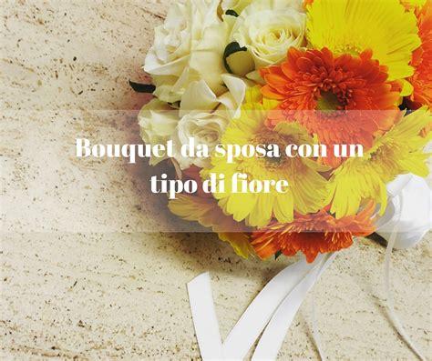 tipo di fiore bouquet da sposa con un tipo di fiore