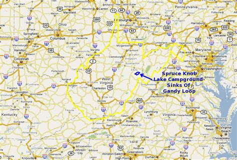 Spruce Knob Trail Map by Maps And Aerial Photos Of Spruce Knob Lake Cground