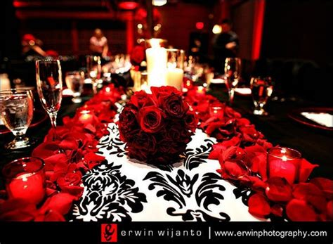 Black And Red Wedding Ideas – Tbdress Blog A Dream Come True With A Black White Red