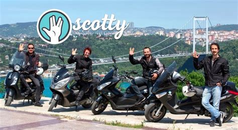 motorscooter cagirma uygulamasi scotty istanbulun