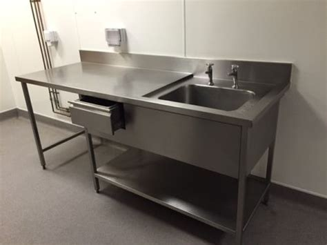 Stainless Steel Commercial Kitchen Sinks Secondhand Catering Equipment Single Sinks Commercial Stainless Steel Sink West Sussex