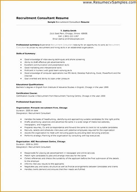 7 recruitment consultant resume sle free sles
