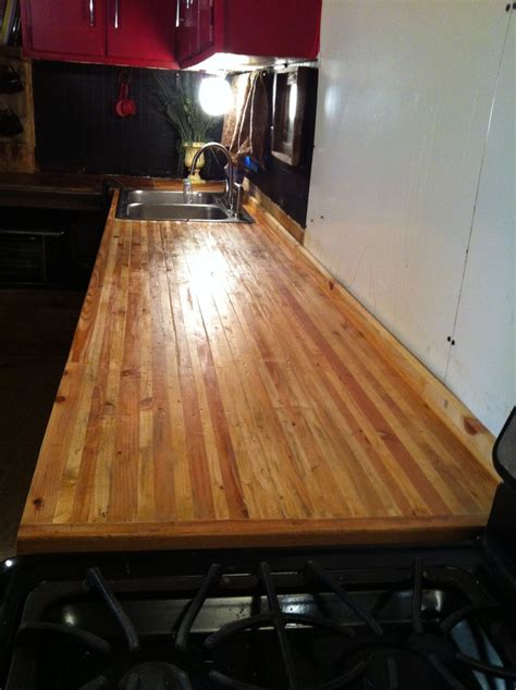 Kitchen Island Butcher Block Tops diy butcher block counter made with cuts from yellow pine