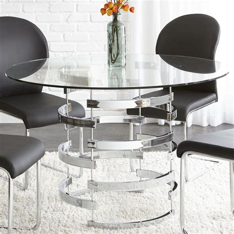 steve silver dining table steve silver tayside tempered glass dining table