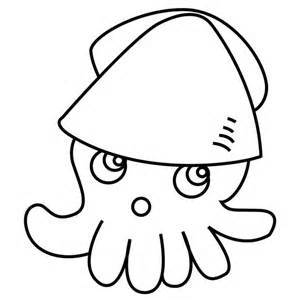 squid colouring pages page 2 sketch template