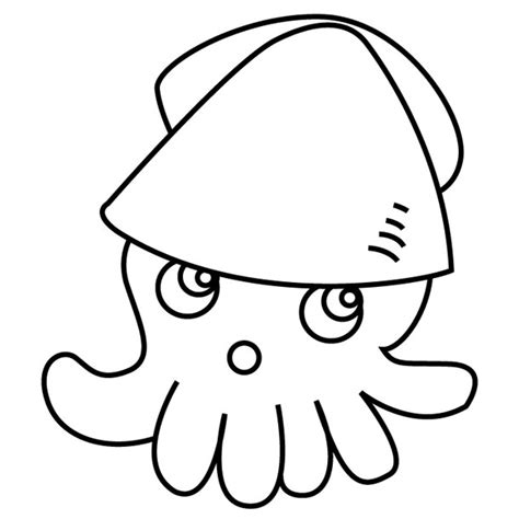 free coloring pages of the giant squid