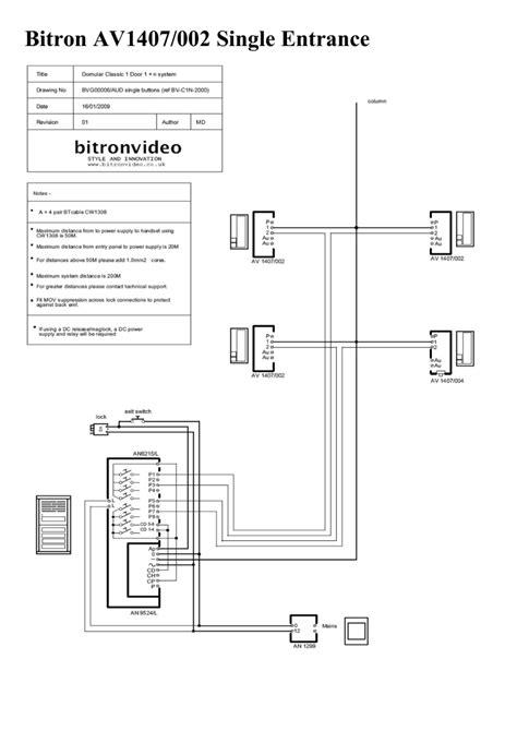 bitron installation door entry direct door