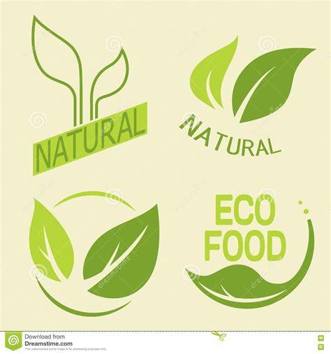 alimento biologico sistema de las etiquetas logotipos con el texto