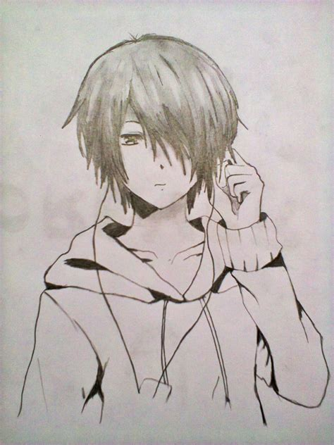 Anime Sketches by Easy Anime Drawings In Pencil Boy Easy Anime Drawings In