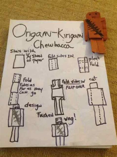 How To Make An Origami Chewbacca - kirigami chewbacca origami yoda