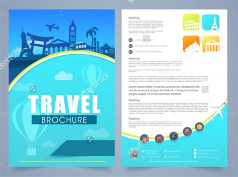 2 page flyer template 19 travel brochure free psd ai vector eps format