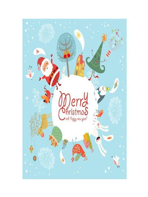 Christmas Card Template   7 Free Templates in PDF, Word