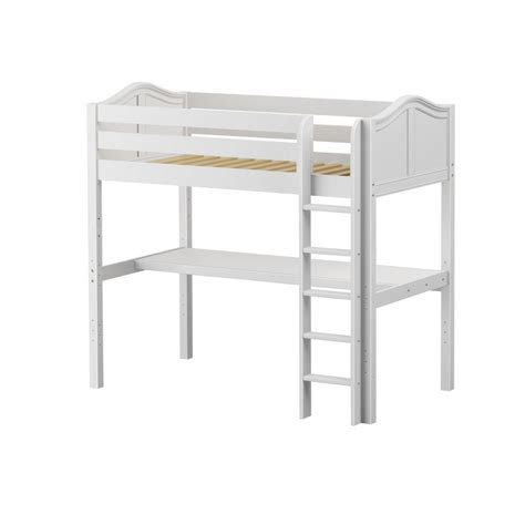 Maxtrixkids Jibjab1 Wc High Loft W Straight Ladder Ladder Desk White