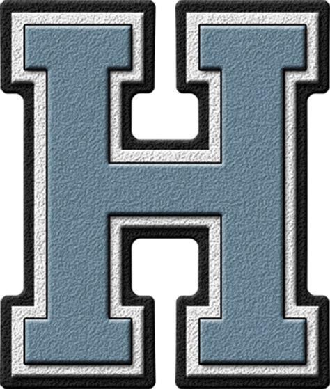 h h presentation alphabets columbia blue varsity letter h