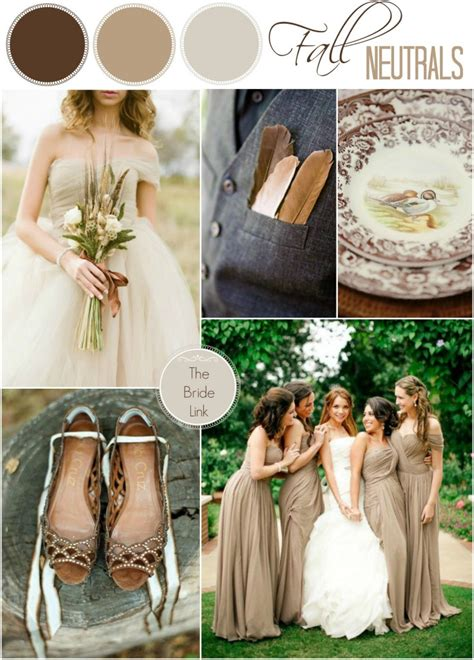 Brown Bridal by Neutral Fall Wedding Color Ideas Link
