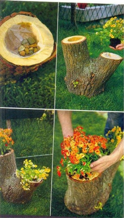 Tree Stump Planter Pot by 11 Best Images About Tree Stump Flower Pots On