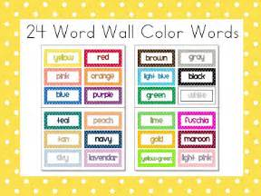 color words class more free polka dot color words