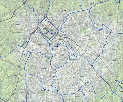 zip code map for charlotte nc charlotte nc zip codes mecklenburg county nc zip code map