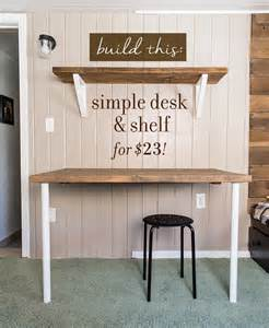 Build Cheap Desk by Simple Diy Wall Desk Shelf Brackets For 23