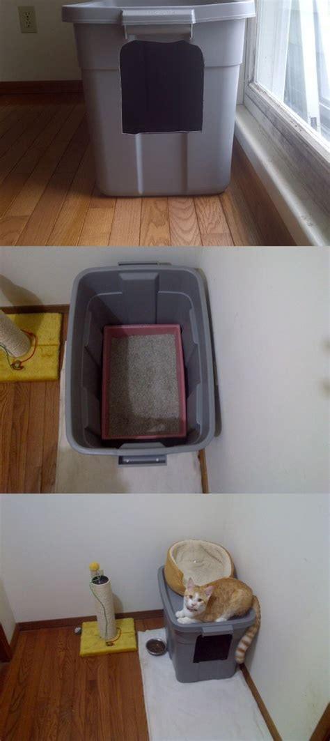 How To Keep Cat Litter The Floor by No Mess Cat Litter Box Sooo Looking Forward To Not
