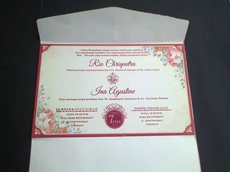 Harga Model Undangan Pernikahan by Model Undangan Pernikahan Semi Hardcover Elegan One Card
