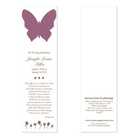 printable memorial bookmarks butterfly memorial bookmarks memorial bookmarks