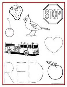 Worksheets learning colors and worksheets for preschoolers on