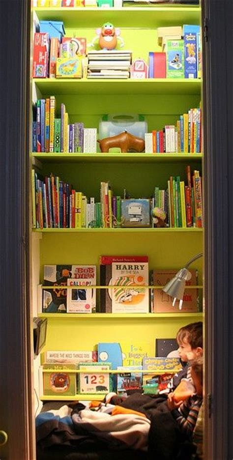 Turn Closet Into Reading Nook by Closet Turned Into Reading Nook Book Nooks