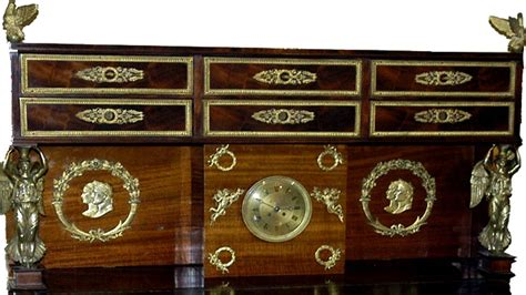 theme bureau bureau plat 225 gradin with napoleonic theme for sale at 1stdibs