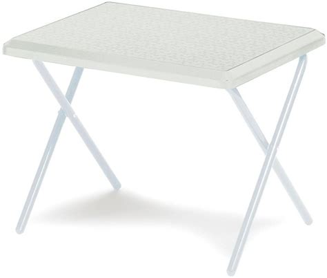 Small White Folding Table Small Cing Table Top Travel Travel Folding White New Ebay