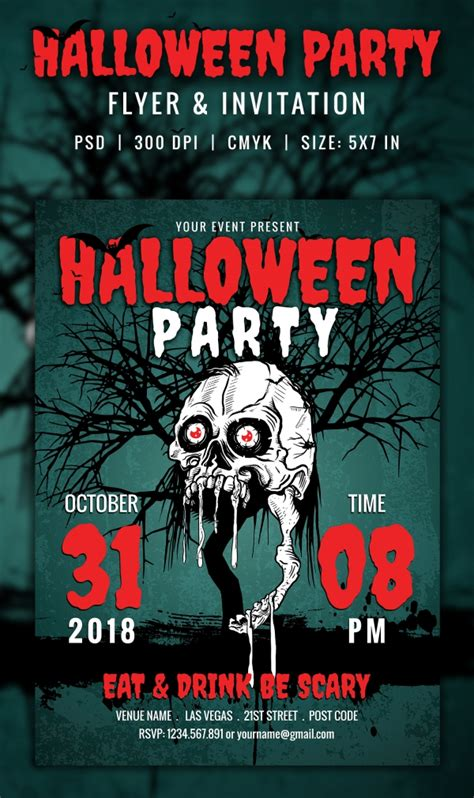 halloween invitation  psd vector eps ai format   premium templates