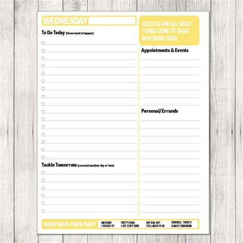 printable daily planner for work 2014 daily planner printable the project cottage