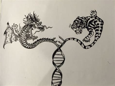 double helix tattoo designs my dna helix tiger concept