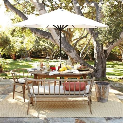 dexter outdoor bench 1000 ideas about outdoor dining furniture on pinterest