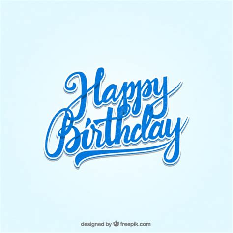 Happy Birthday lettering Vector   Free Download